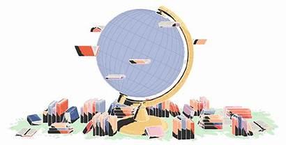 Books Globe Gifs Times York Illustration Globetrotting