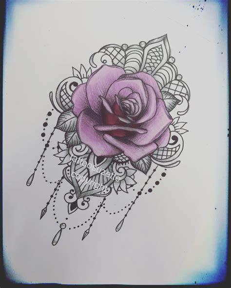 Lace Rose Tattoo Design By Tattoosuzette On Deviantart