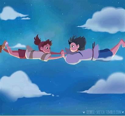 Falling Sky Anime Away Spirited Haku Night
