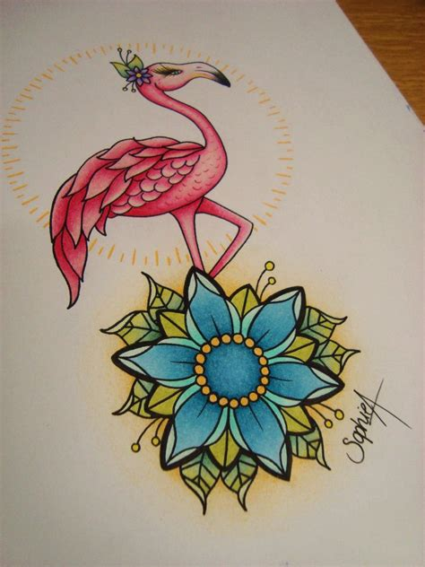 flamingo tattoo images designs