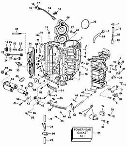 Evinrude Cylinder  U0026 Crankcase Parts For 1998 90hp