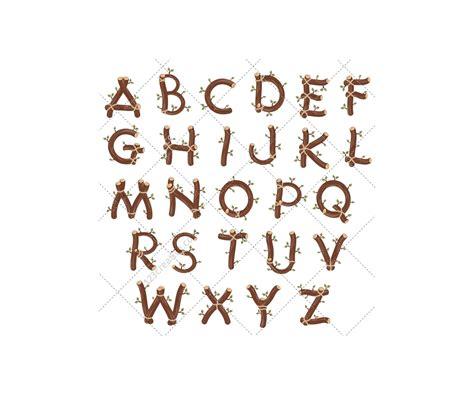 wood alphabet vector pack royalty free vectors alphabet abc letter type vector letters