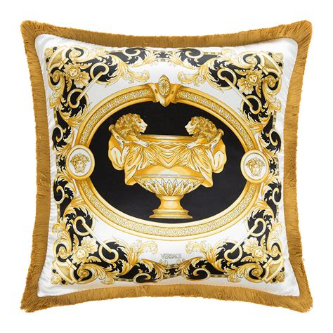 white and gold decorative pillows buy versace home le vase baroque silk pillow 45x45cm 1736