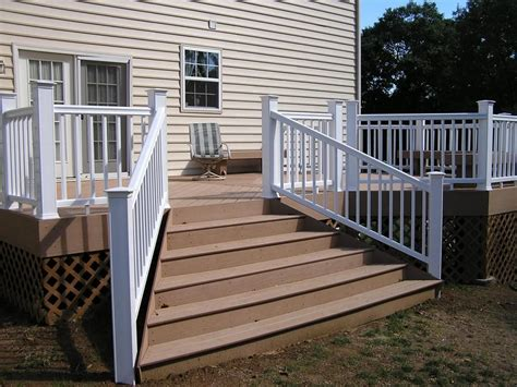 flared deck stair plans timbertech decking  flared