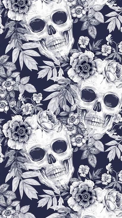 Skull Iphone Pattern Apple Xs Gothic Everpix