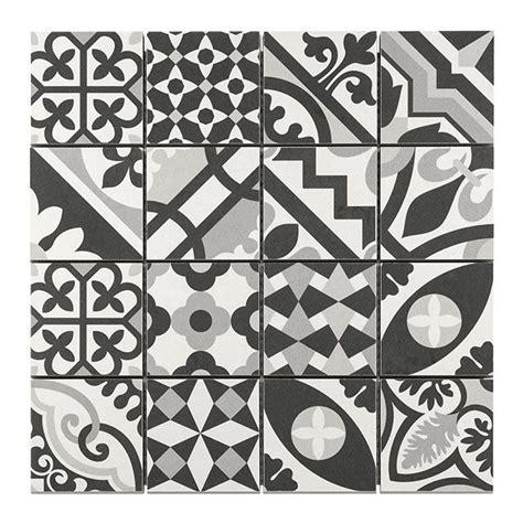 mosa 239 que carreaux de ciment blanc noir 7 x 7 cm castorama cuisines cuisine et