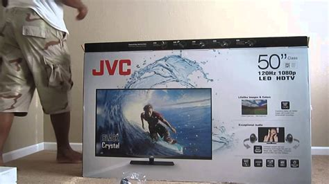 47 inch tv jvc 50 in black e led bc50r unboxing