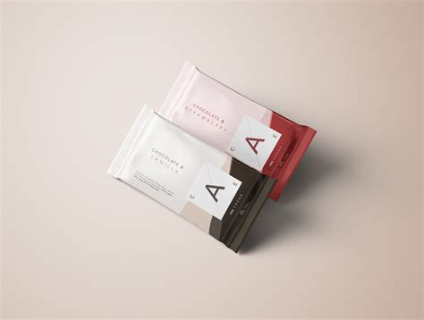 Awesome free paper bag mockup for presenting your packaging designs etc. Premium Chocolate Bar Mockup