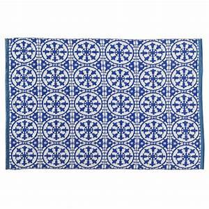 Tapis D Extérieur Maison Du Monde : tapis d 39 ext rieur en pvc bleu et blanc 160 x 230 cm ~ Dailycaller-alerts.com Idées de Décoration