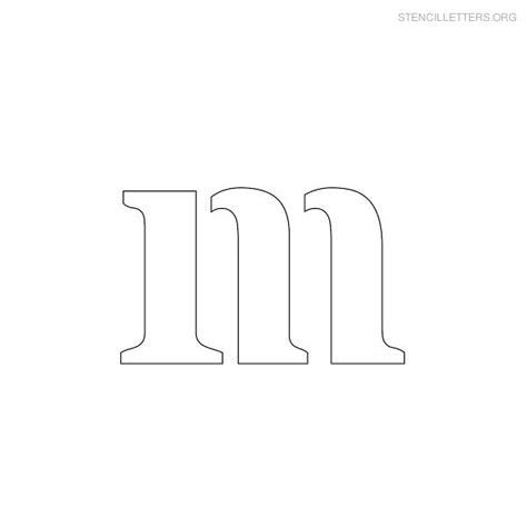 m m template stencil letters m printable free m stencils stencil letters org
