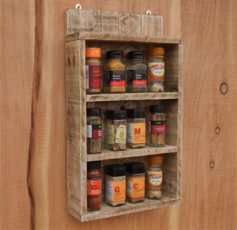 spice rack with spices rustic spice shelf kitchen spice rack cabinet made from