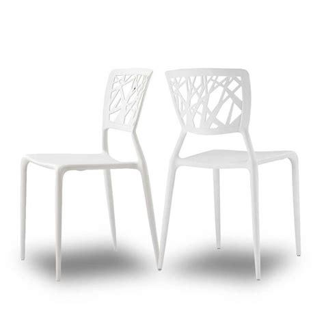 chaises design blanche chaises orange pour jardin candice x2 par drawer
