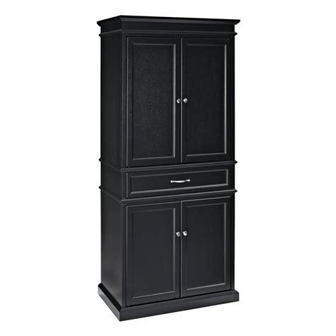 crosley furniture kitchen cart shop crosley furniture black poplar pantry at lowes com