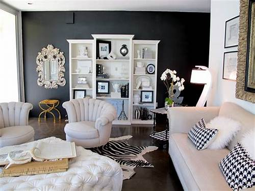 The Walls Are Painted In Black #Accent #Wall