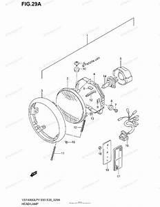Suzuki Motorcycle 2001 Oem Parts Diagram For Headlamp