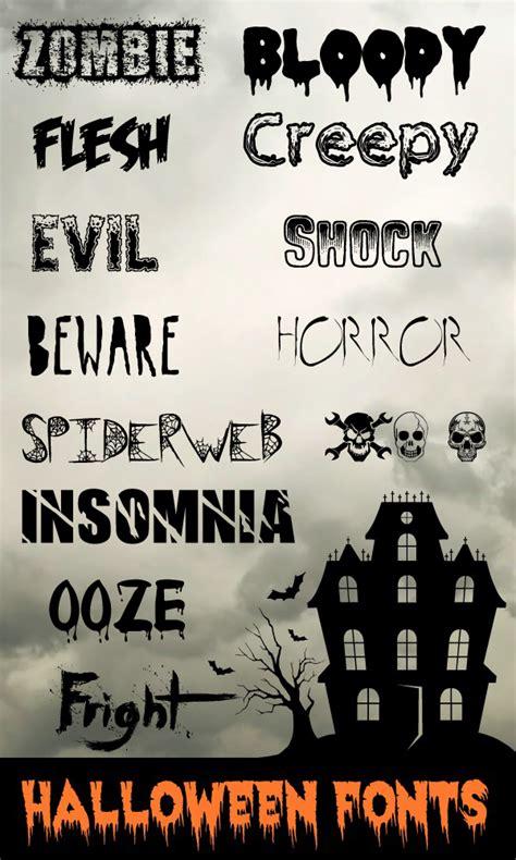 collection    halloween fonts dingbats