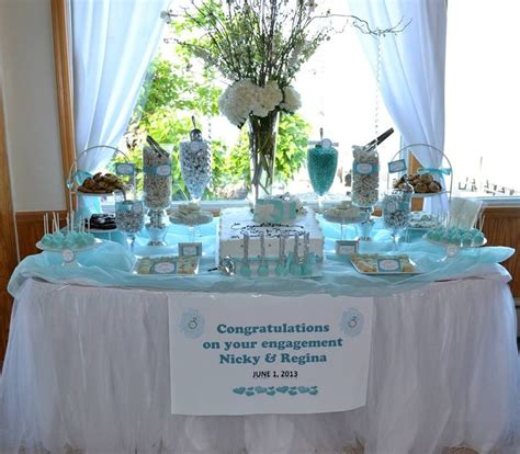 tiffany buffet table ls tiffany blue engagement party candy buffet table candy
