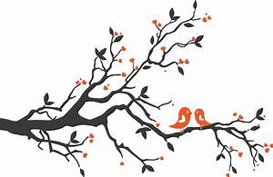 Two Birds On A Branch Silhouette