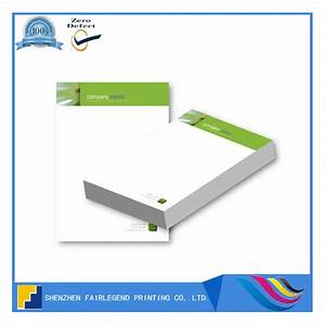 Custom printed letterhead a4 with logo printing for for Custom printed letter pads