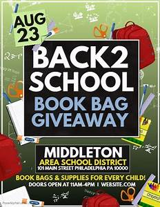 Bookbag giveaway Template | PosterMyWall