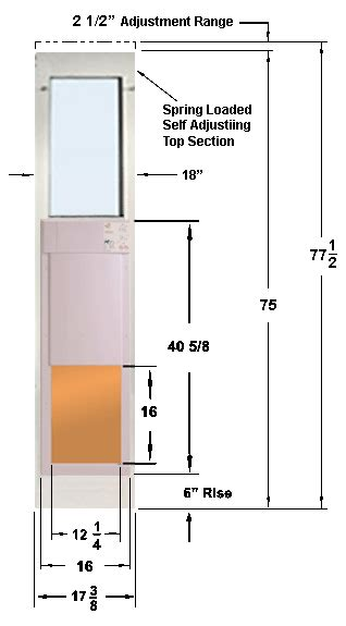automatic pet door for patio large opening height