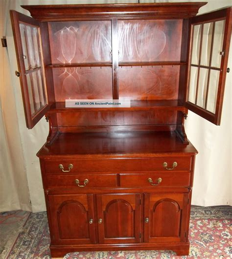 Dining Room Small Cherry Wooden China Cabinets And