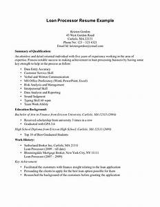 resume for loan processor position loan processor resume With how to make a resume for a business loan