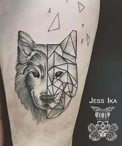 Loup Tatouage Geometrique : loup jessika tatouage inspirations pinte ~ Melissatoandfro.com Idées de Décoration