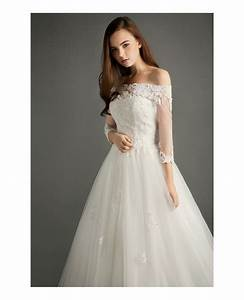 Elegant Ball Gown Off The Shoulder Court Train Tulle