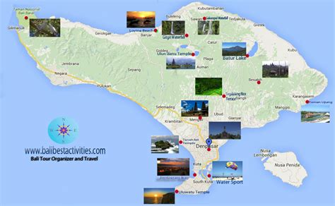 bali tourist map  travel information