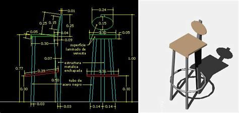 bar stool  short  details  dimensions  dwg