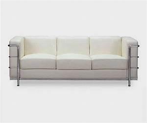 White, Contemporary, Leather, Sofa