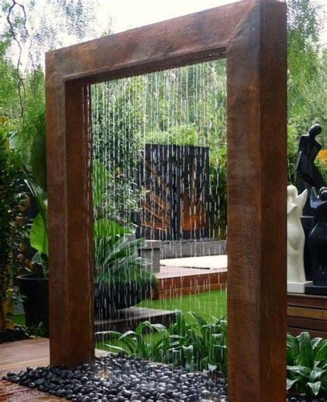 how to make a water wall feature diy outdoor water wall fountain pool design ideas