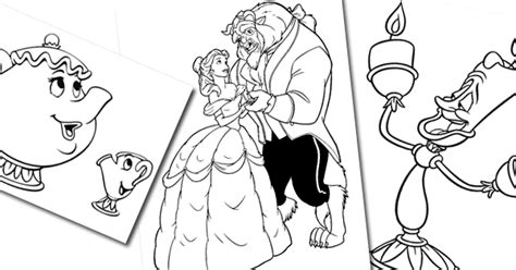beauty   beast coloring pages disneys world