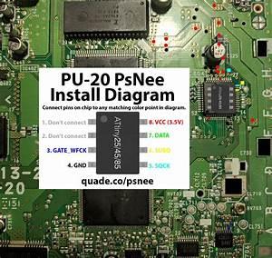 Pu-20 Psnee Modchip Installation Diagram