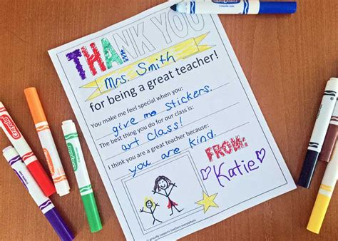 fun  easy printable  teacher appreciation week
