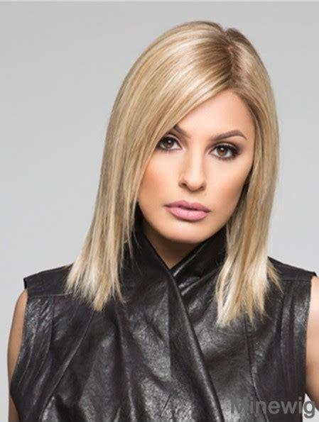 Straight Shoulder Length Blonde 12