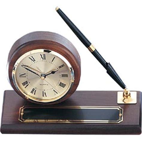 desk clock pen set walnut desk clock pen set trophycentral