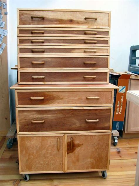 built  tool cabinet   shop woodworking