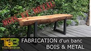 Fabriquer Un Banc De Jardin Original : bricolage rapide comment fabriquer un banc en bois et m tal how to make a wood and metal ~ Melissatoandfro.com Idées de Décoration