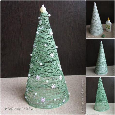how to diy easy thread roll christmas tree