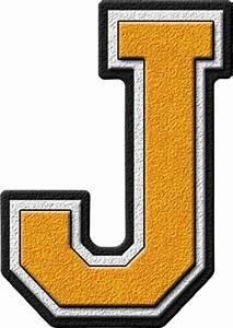 presentation alphabets gold varsity letter j With gold letter j