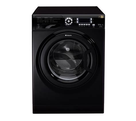 black washer and dryer buy hotpoint wdud9640k washer dryer black free