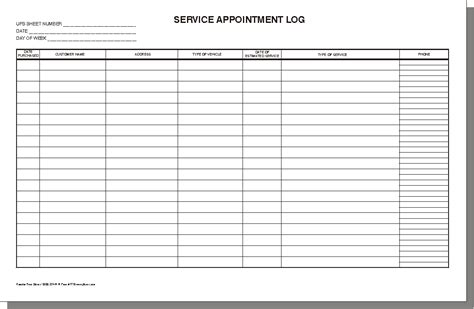 Log Sheet Template Excel by 3 Excel Service Log Templates Word Excel Formats