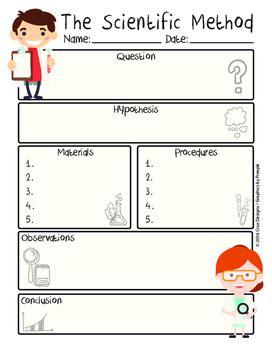 Scientific Method Worksheet Pdf Englishmétodo Científico Spanish