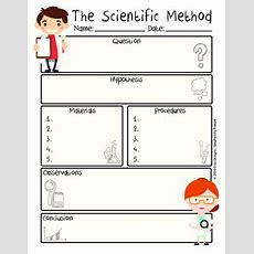 Scientific Method Worksheet Pdf Englishmétodo Científico Spanish