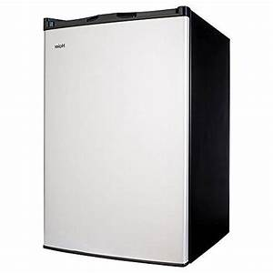 Haier 4 5 Cu Ft Compact Refrigerator  Virtual Stainless
