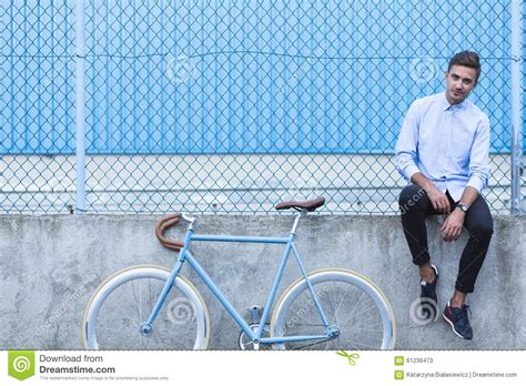 sitting wall man sitting on the wall stock image image of caucasian 61236473