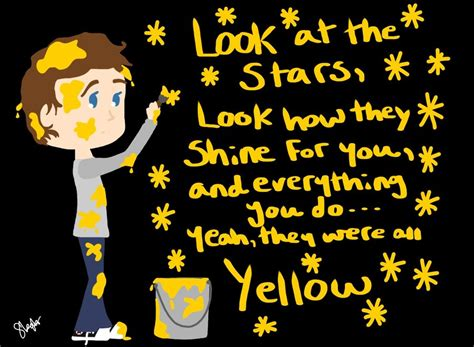 Coldplay- Yellow By Lenmccarristarr On Deviantart