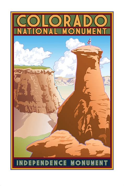 colorado national monument poster eagleye creative